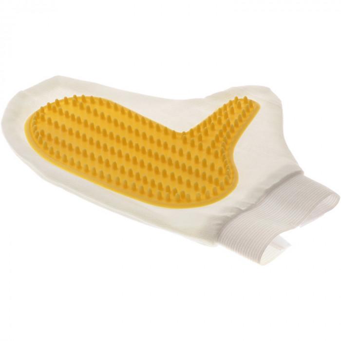 Рукавица для чистки шерсти, с шипами