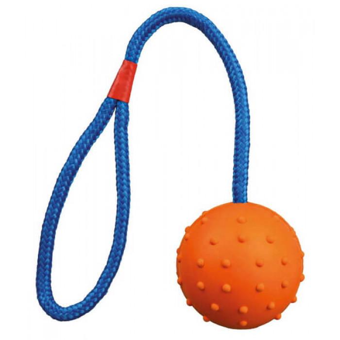 Trixie Мяч на верёвке, 30 см/Ф 6 см