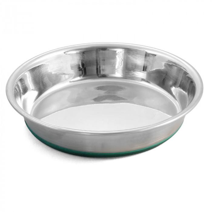 Миска-блюдце 1711 металлическая на резинке утяжеленная GREEN, 0,25л