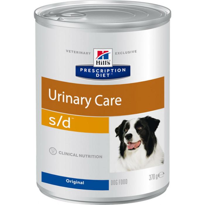 Корм Hill's Prescription Diet s/d Urinary Care консервы для собак диета для поддержания здоровья мочевыводящих путей, 370 г