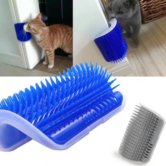 Угловая расческа для животных, синяя