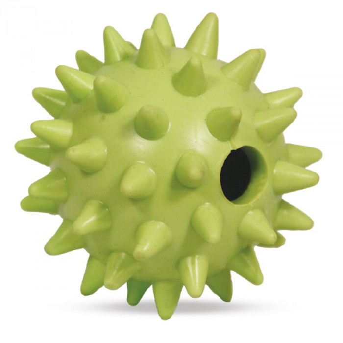 """Игрушка для собак из ц/литой резины """"Мяч игольчатый"""", d85мм"""