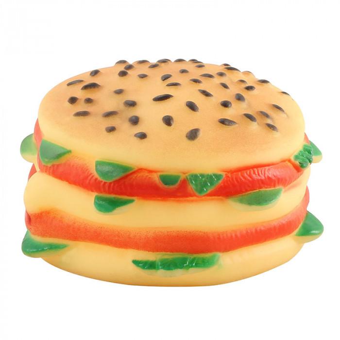 """Игрушка для собак из винила """"Чизбургер"""", 90мм"""