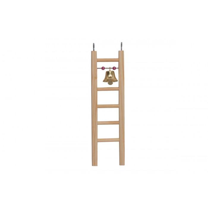 Лесенка деревянная Дарэлл, с бусами и колокольчиком, малая 63*8*h200мм