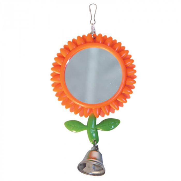 "Игрушка для птиц - зеркало ""Подсолнух"", 80*175мм"