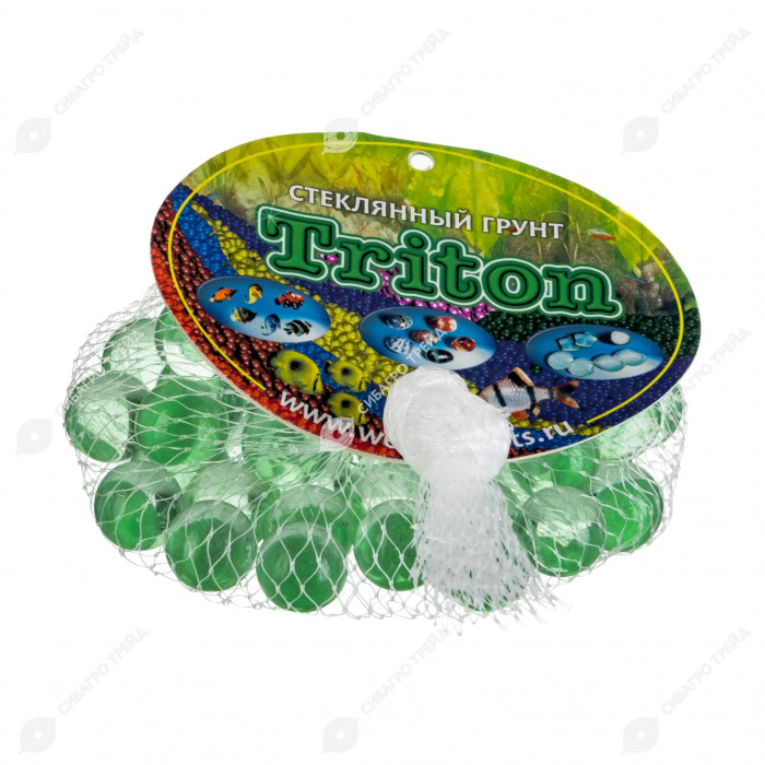 Грунт Triton стеклянный круглый 50 шт №11 (зеленая мята)