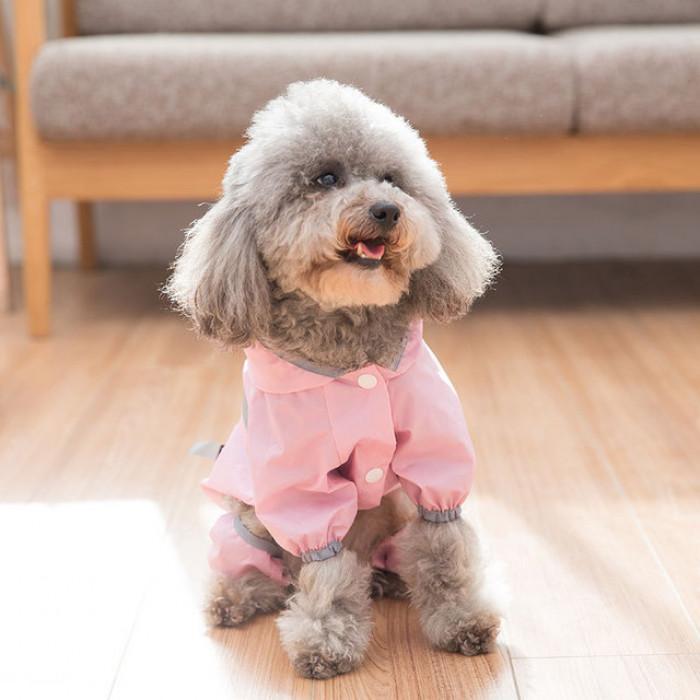 Дождевик Athletics M для собак с капюшоном размер L (длина спины 41 см) розовый