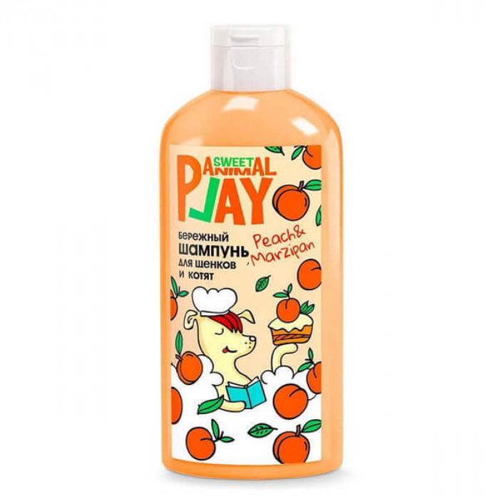 Шампунь для щенков и котят Animal Play Sweet Персиковый марципан Бережный, 300мл