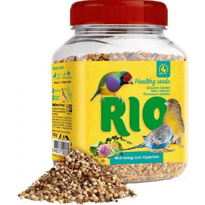 Rio лакомство для всех видов птиц, полезные семена, банка 240 г