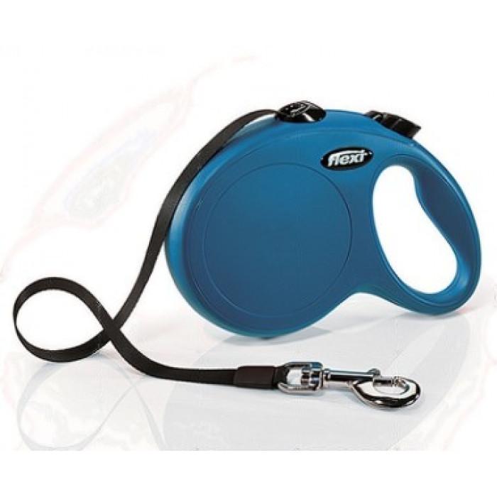 Поводок-рулетка flexi рулетка New Classic L (до 50 кг) лента 5 м синяя