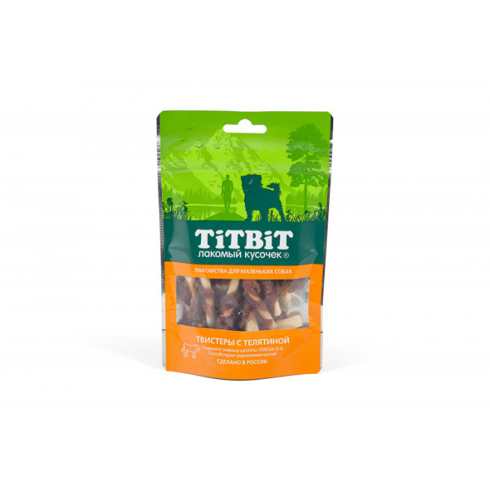 Titbit Твистеры с телятиной для маленьких собак 50 г