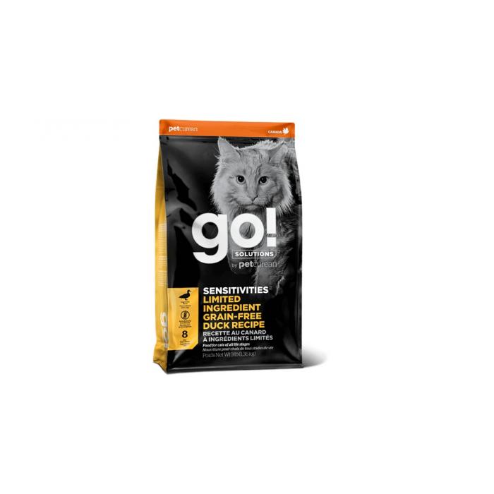 Корм Go! SENSITIVITIES Limited Ingredient Grain-Free Duck Recipe (беззерновой) для кошек с чувствительным пищеварением с уткой, 1.36 кг