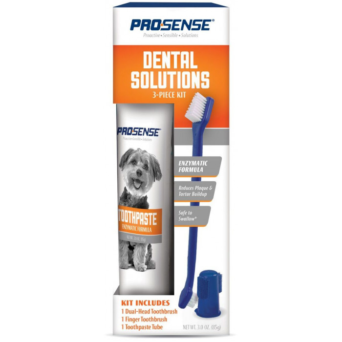 8in1 набор для ухода за зубами для собак Pro-Sense, 3 предмета