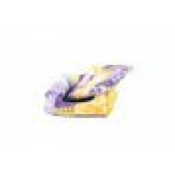 Лежак квадратный пухлый 51*51*17см с подушкой (хлопок разноцв., синтепух + периотек)