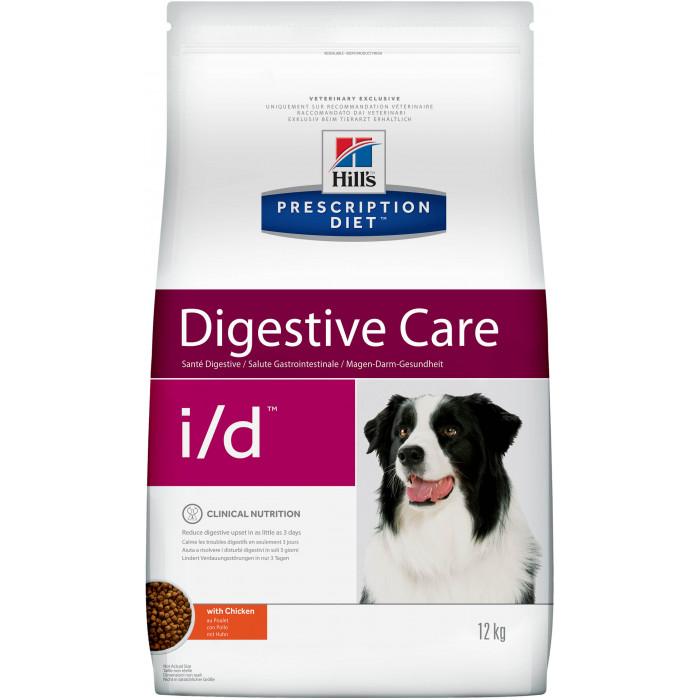 Корм Hill's Prescription Diet i/d Digestive Care для собак диета для поддержания здоровья ЖКТ с курицей, 12 кг