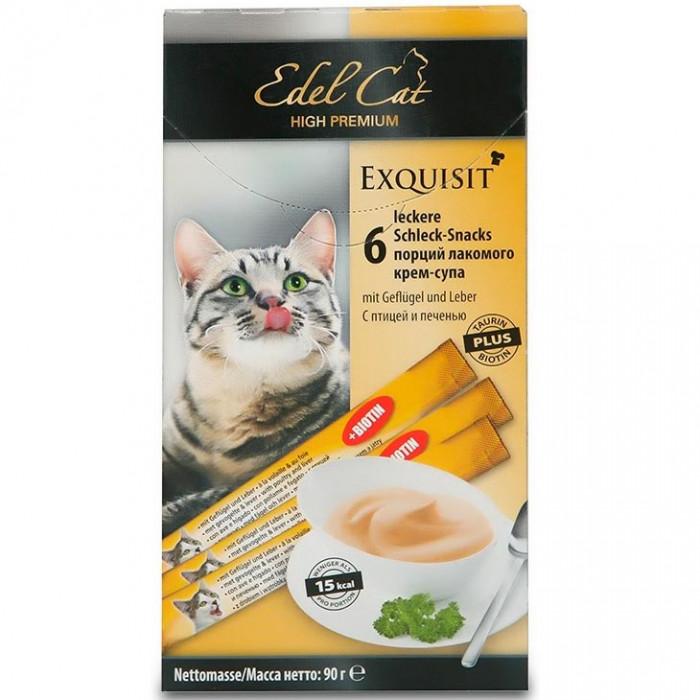 Edel Cat Лакомство крем-суп с птицей и печенью, 0.09 кг