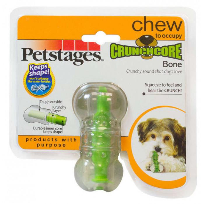 """Игрушка для собак Хрустящая косточка"""" резиновая 8 см очень маленькая, 40 г"""