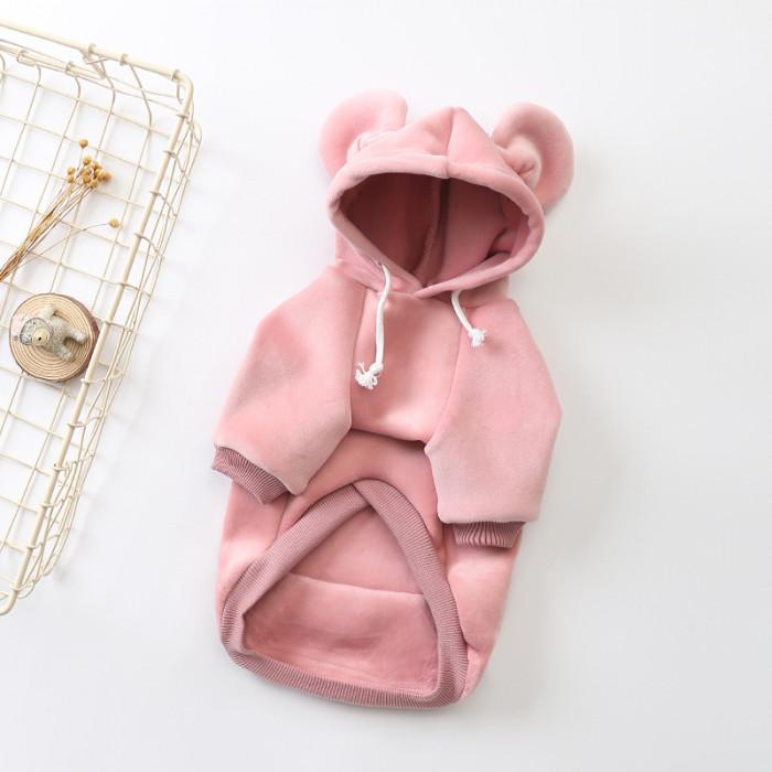 """Толстовка с капюшоном """"Supreme"""", цвет розовый, размер L (длина спины 29 см)"""