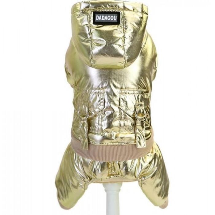 """Комбинезон """"DaDaGou"""", цвет золотистый, размер L (длина спины 30 см)"""