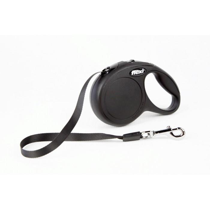 "Поводок-рулетка FLEXI NEW CLASSIC XS"" лента для собак, до 12 кг черный 3 м"