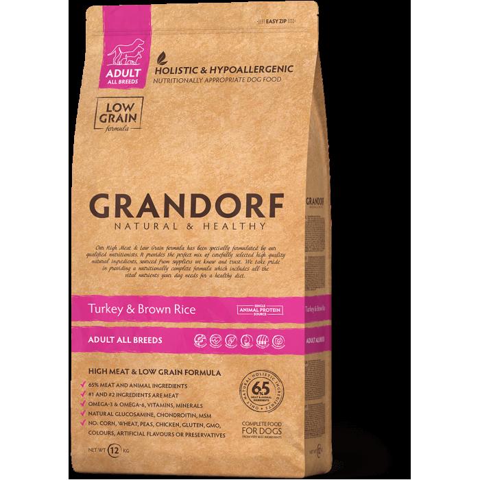 Корм Grandorf для собак всех пород, индейка с рисом, 1 кг