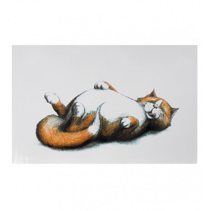 """Коврик под миску """"Thick cat"""", 44*28 см"""