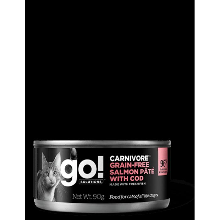 Корм Go! Carnivore Grain Free Salmon Pate & Cod (консерв.) для кошек, беззерновой, с лососем и треской, 90 г