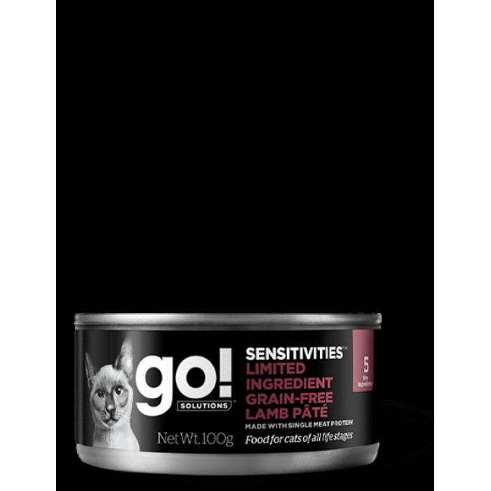 Корм Go! Sensitivities Limited Ingredient Grain Free Lamb Pate для кошек с чувствительным пищеварением, беззерновой, с ягненком, 100 г