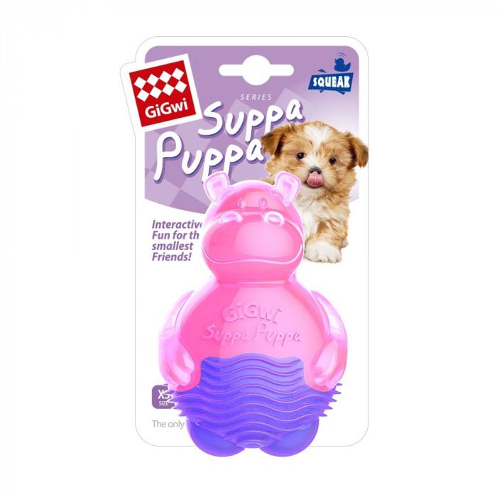 Игрушка для собак GiGwi Бегемотик с пищалкой