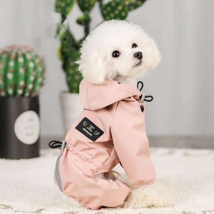 Дождевик Hoopet розовый, размер XL (длина спины 35 см)