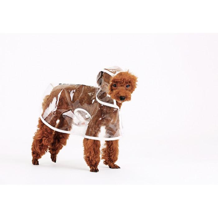 Дождевик для собак прозрачный, размер XL (длина спины 40см)