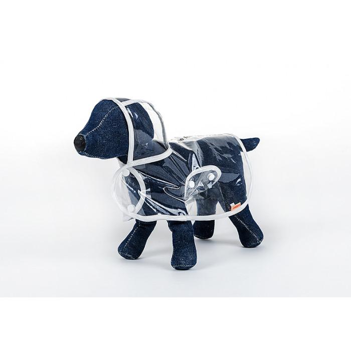 Дождевик для собак прозрачный, размер S (длина спины 25см)