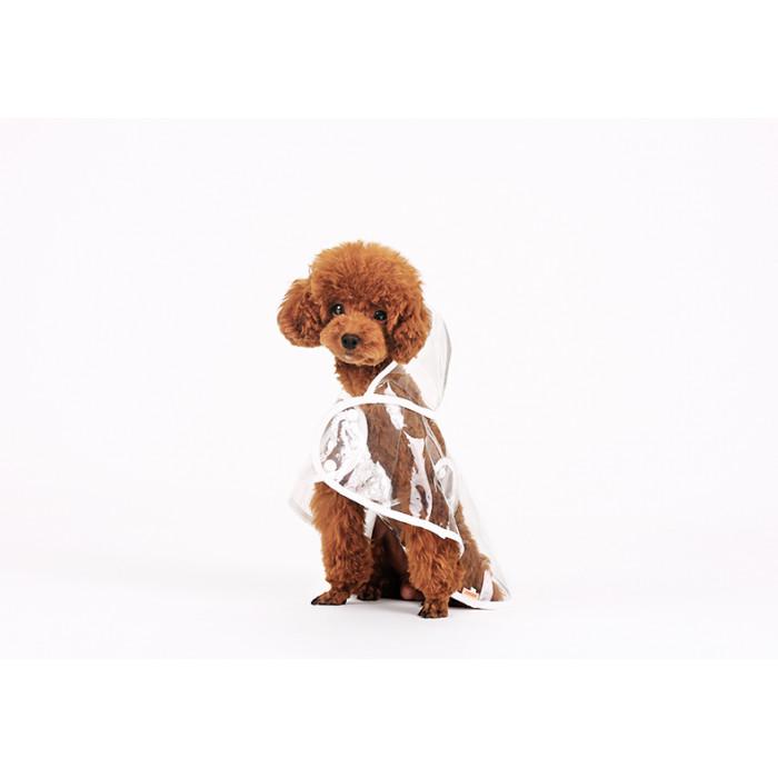 Дождевик для собак прозрачный, размер L (длина спины 35см)