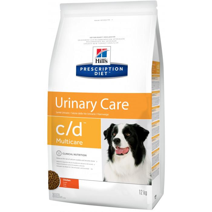 Корм Hill's Prescription Diet c/d Urinary Care для собак диета для поддержания здоровья мочевыводящих путей курица, 12 кг