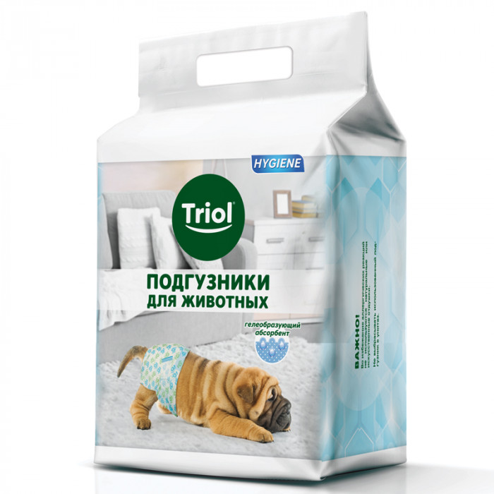 Подгузник для собак M, вес собаки 7-15кг ( цена за 1 шт )