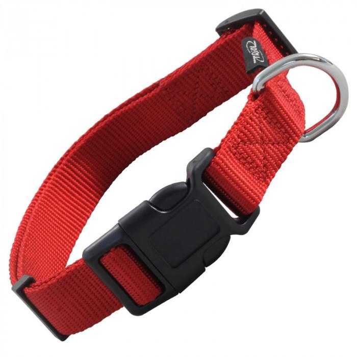 """Ошейник нейлоновый для собак """"Стандарт"""" M, красный, 20*340-490мм"""