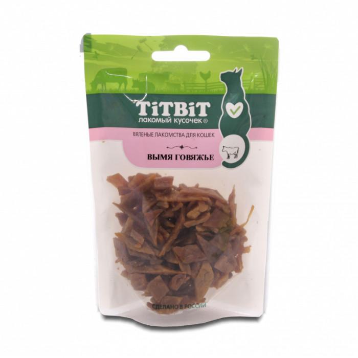 Titbit Вымя говяжье для кошек (Вяленые лакомства) 50 г