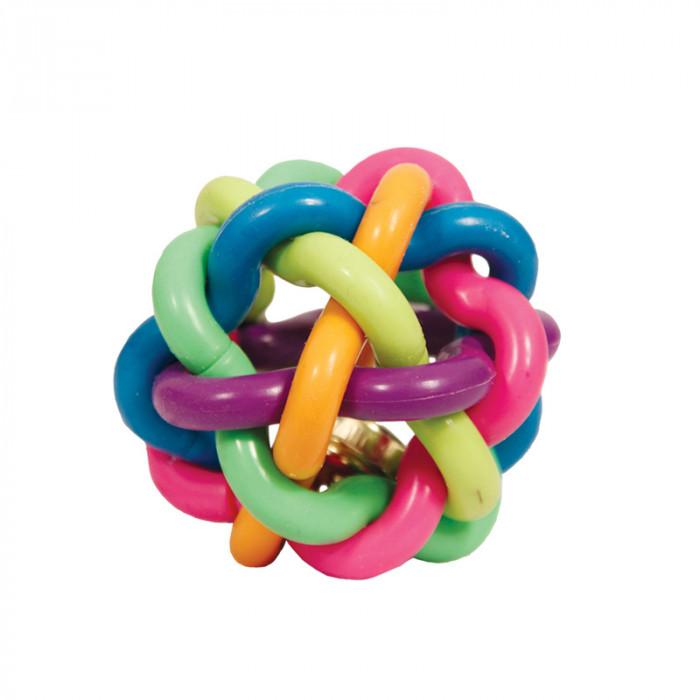 """Игрушка для собак из ц/литой резины """"Мяч-лабиринт с колокольчиком"""", d65мм"""