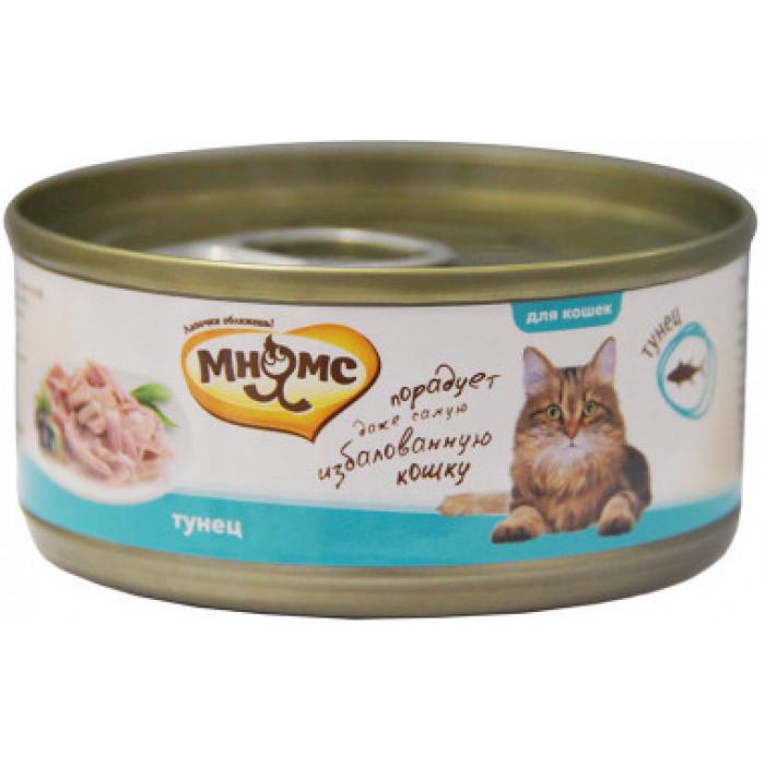 Корм Мнямс консервы для кошек Тунец в нежном желе, 70 г