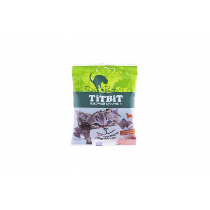 Titbit Хрустящие подушечки для кошек с паштетом из ягненка 30 г
