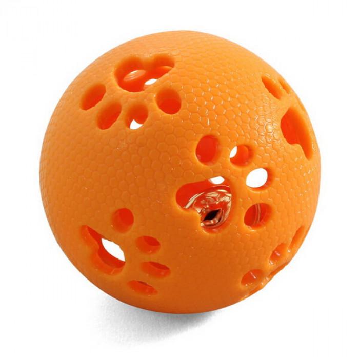 """Игрушка для собак из термопласт. резины """"Мяч-лапки"""", d80мм"""