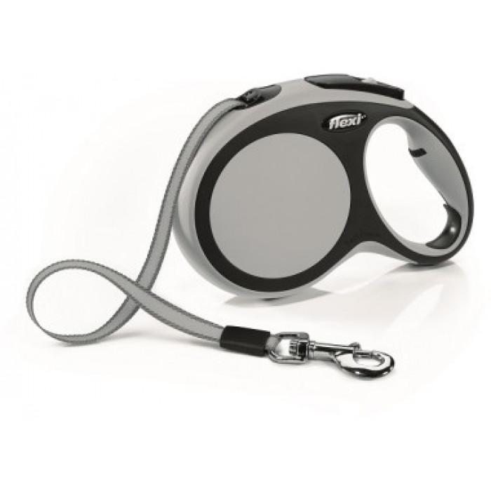 """Поводок-рулетка Flexi """"New Comfort L"""" лента для собак, до 50 кг черный/антрацит 8 м"""