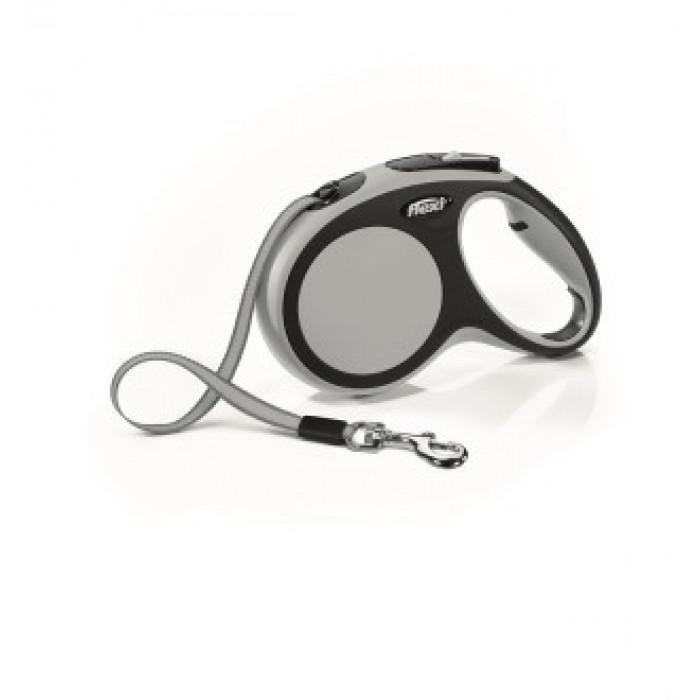 """Поводок-рулетка Flexi """"COMFORT M"""" для собак, до 25 кг черный/антрацит 5 м"""