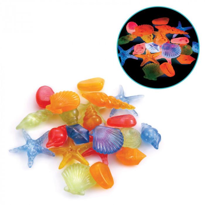 Ракушки LD3001 морские светящиеся разноцветные, 100шт