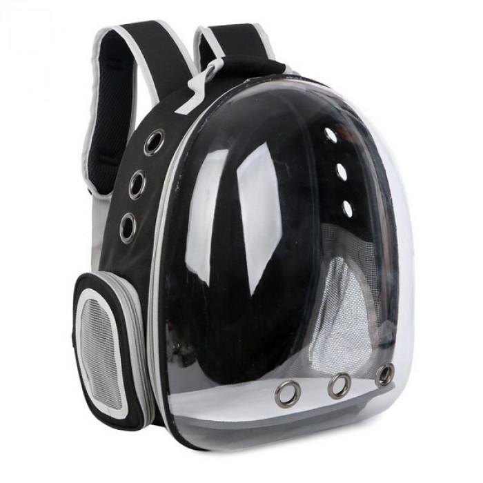 Рюкзак для переноски животных с иллюминатором, черный