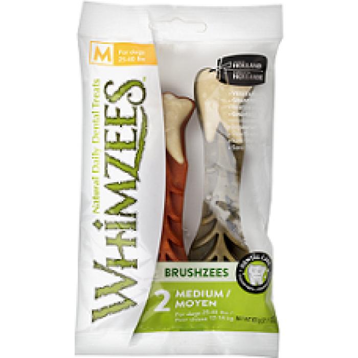 Whimzees VET лакомство для чистки зубов Дентал Браш для собак М 11 см 2 шт в блистере
