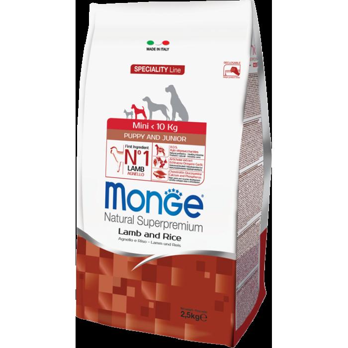 Корм Monge Dog Speciality Mini корм для щенков мелких пород с ягненком и рисом 2,5 кг