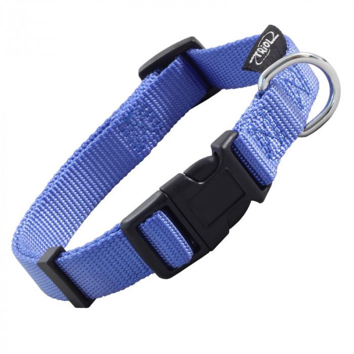 """Ошейник нейлоновый для собак """"Стандарт"""" M, синий, 20*340-490мм"""