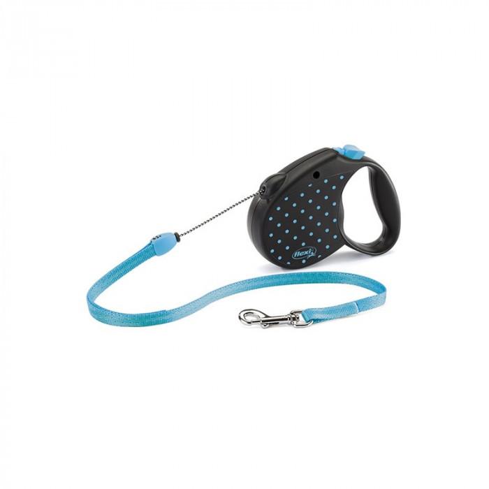 """Поводок-рулетка FLEXI Color S"""" трос для собак, до 12 кг голубой 5 м"""