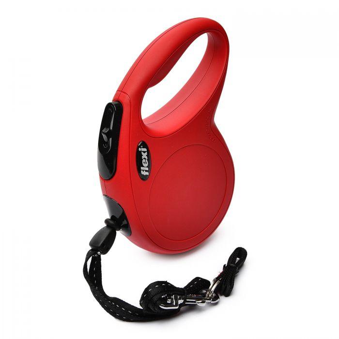 """Поводок-рулетка FLEXI NEW CLASSIC S"""" трос для собак, до 12 кг красный 8 м"""